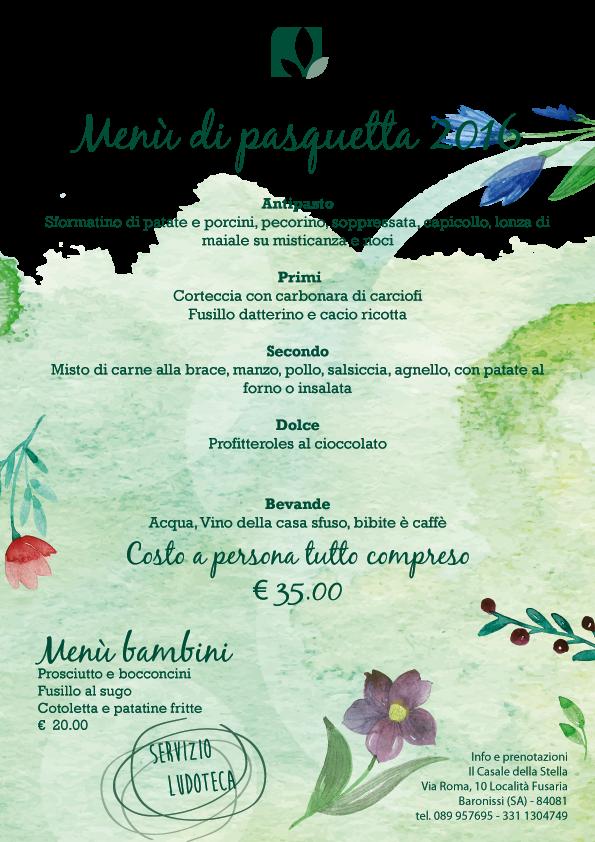 menù di Pasquetta 2016